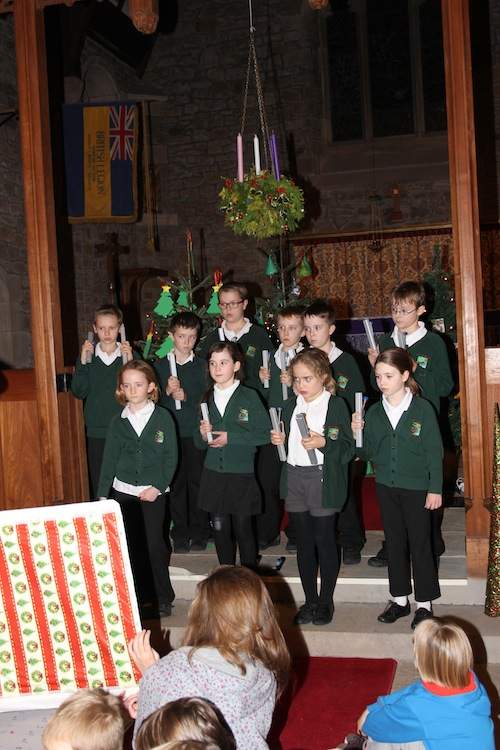 Christmas bells, the modern version.  Kettleshulme children entertain with their handbells