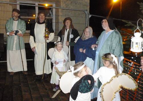 Nativity scene as performed at the recent Christmas Light Switch-On