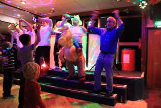 That's the way to do it: Charlie, two, watches great granddad Albert dance to YMCA