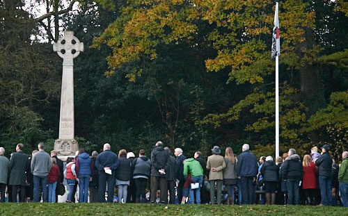 Remembrance Sunday in Whaley Bridge Park